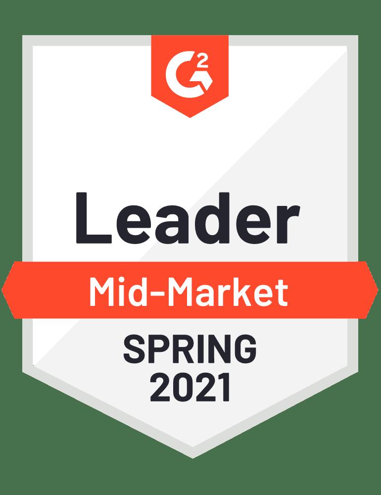 G2 Leader Mid-Market Spring 2021