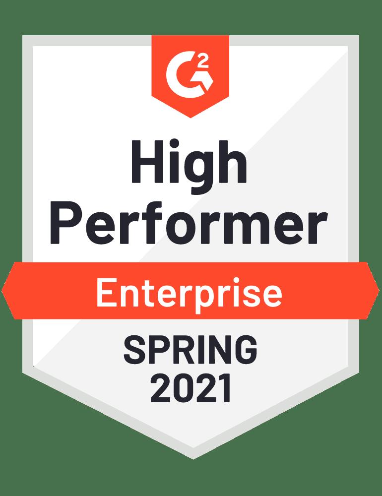 G2 Enterprise High Performer Spring 2021