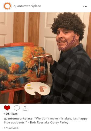 Corey Farley as Bob Ross