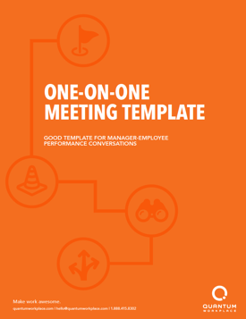 One on one meeting template
