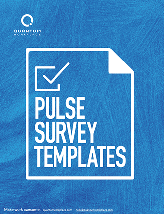 Pulse Survey Templates ebook