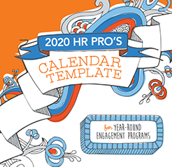 2020 HR calendar template preview