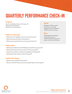 quarterly performance check-in