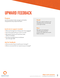 upward feedback