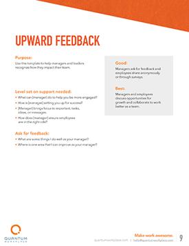 upward feedback