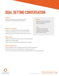 goal setting conversations