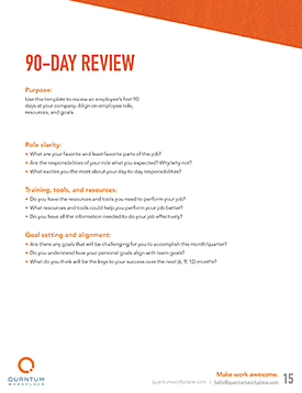 90-day review