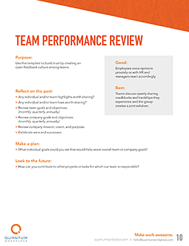 team performance review