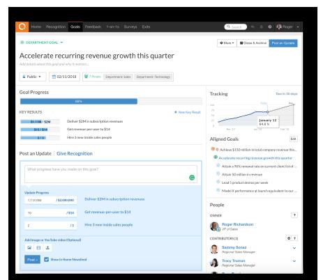 Employee Goals-Move from chaos screenshot
