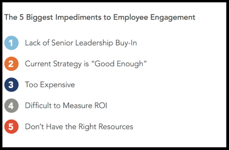 the biggest impediments to employee engagement
