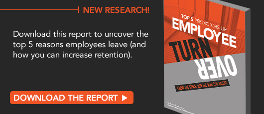 New Research! Top 5 Predictors of Employee Turnover