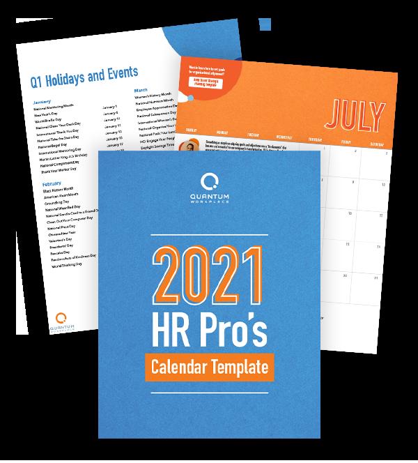 2021 HR Calendar Template