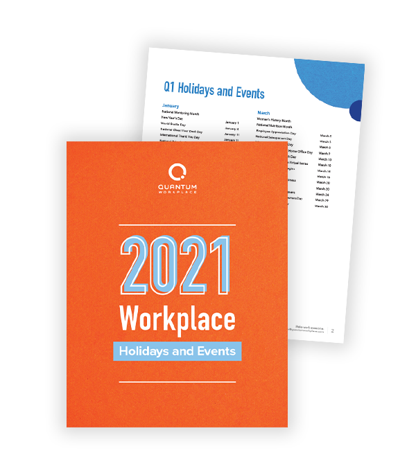 2021 Workplace Holidays and Events