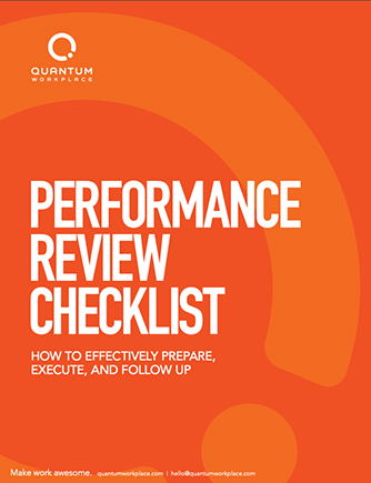 Performance Review Checklist Template