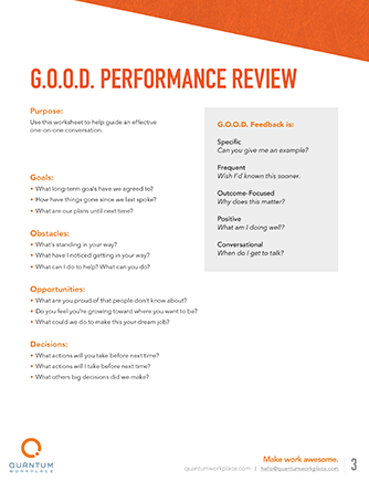 good performance review
