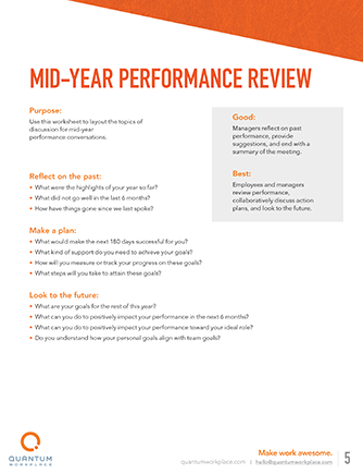 mid-year performance review