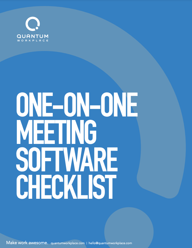 one on one meeting software checklist