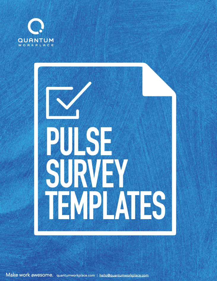 pulse survey template cover