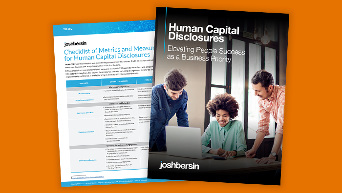 Human Capital Disclosures: Elevating People Success as a Business Priority